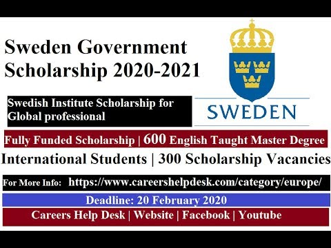 Sweden Government Scholarship 2020/2021 Fully Funded