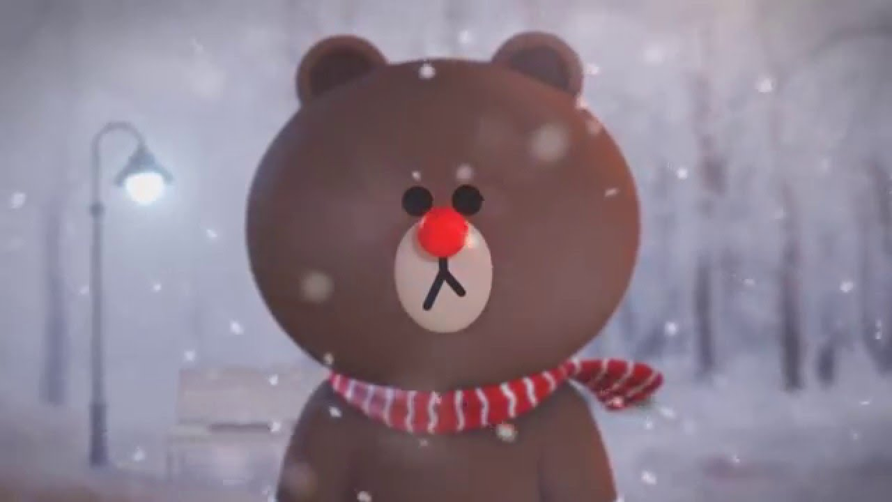 3d Xmas Live Wallpaper Line Friends Animation A Christmas Message From Brown