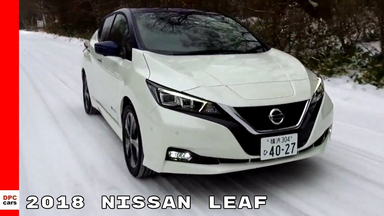 2018 Nissan Leaf Winter Snow Driving