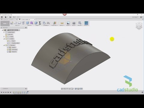 CAD Forum - 3D relief on model surface in Autodesk Fusion 360