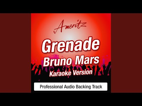Grenade (In The Style Of Bruno Mars)