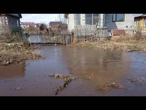 Потоп по улице Пионерская село Месягутово 11 апреля 2018 года