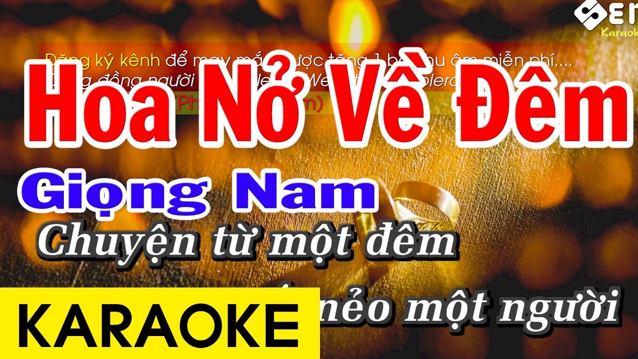 Hoa Nở Về Đêm – Karaoke Chuẩn Giọng Nam
