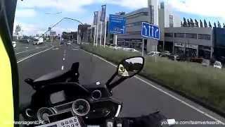 Ambulancebegeleiding Nootdorp naar Sophia SEH 06-05-2014 (3 spitsers met commandant)