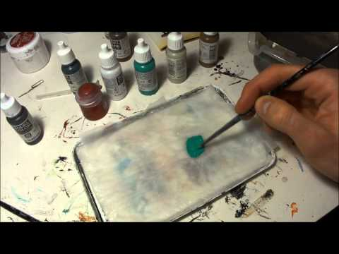 How I paint: thinning paint