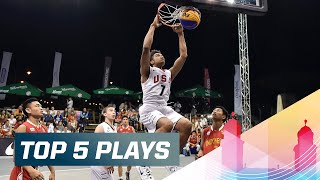 Top 5 Plays - Day 2 - 2015 FIBA 3x3 U18 World Championships