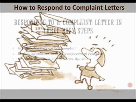 How To Respond To A Complaint Letter