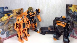 1 Step Bumblebee & High Octane Bumblebee Transformers 4 Toy Review