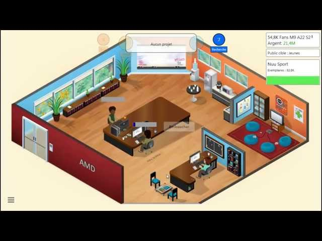 Sans Commentaire: Game Dev Tycoon Partie 13 1080P/60FPS
