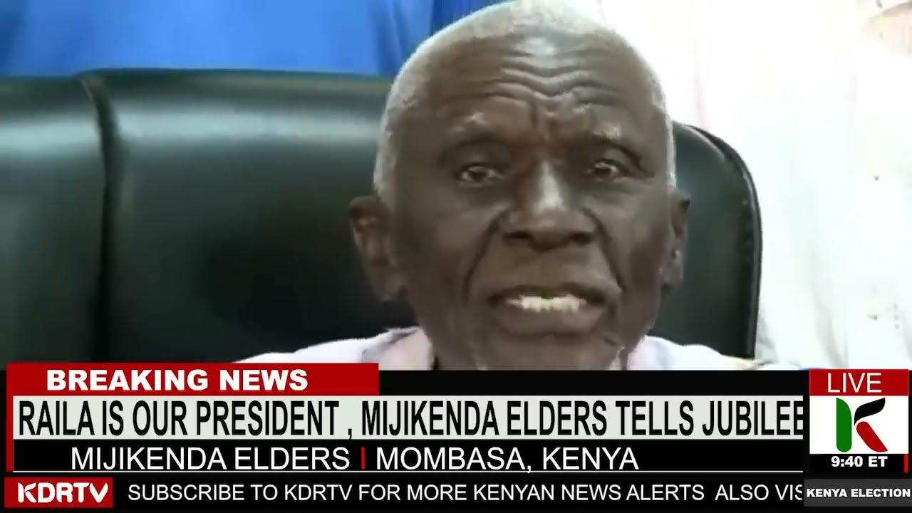 "Mijikenda Elder HUMILIATES Uhuru Saying ""Raila is our PRESIDENT!""   KENYA NEWS   ntv kenya"