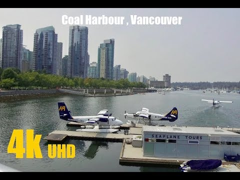 Coal Harbour Vancouver (walking Tour) BC In 4K