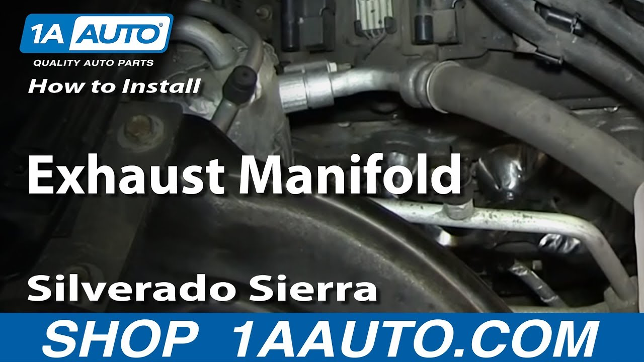 how to install replace exhaust manifold 5 3l silverado sierra suburban tahoe yukon youtube [ 1280 x 720 Pixel ]