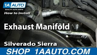 how to replace exhaust manifold 02 06 chevy suburban