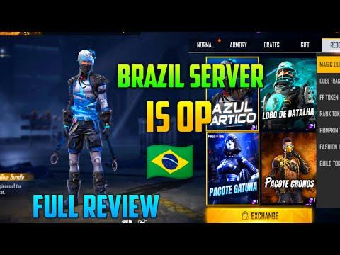 BRAZIL SERVER IS OP🇧🇷 FULL REVIEW OF BRAZIL SERVER 🇧🇷. || GARENA FREE FIRE||