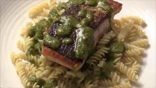 Gluten-free Dinner (salmon Pesto Pasta)