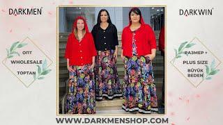 02 06 2021 Часть 2 Показ женской одежды больших размеров DARKWIN от DARKMEN Турция Стамбул Опт