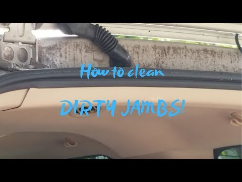 How to clean dirty trunk jambs! FAST!