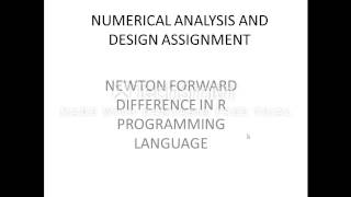 newton forward difference in R programming language