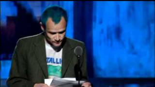 Flea inducts Metallica Rock and Roll Hall of Fame Inductions 2009