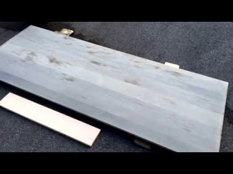 Time Lapse: DIY Drift Wood Gray Headboard With Weatherwood Reclamation Stain