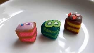 Thử Làm Bánh Kem Mini Bằng Đất Nặn | Practice Making Cream Cake Clay