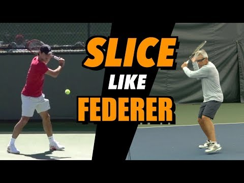 How To Hit Backhand Slice like FEDERER - Tennis Technique & Drills
