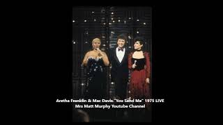"Aretha Franklin and Mac Davis - ""You Send Me"" LIVE 1975"