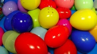 Repeat youtube video 30 Surprise Eggs! ANGRY BIRDS Cars SONIC Pet Shop TOY Story SMURFS  Kinder Surprise SpongeBob!