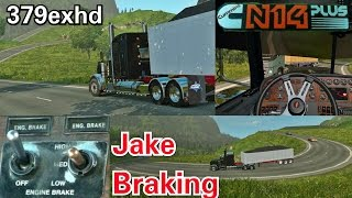 N14 Jake Braking Down Hills with 68 Tons ETS2