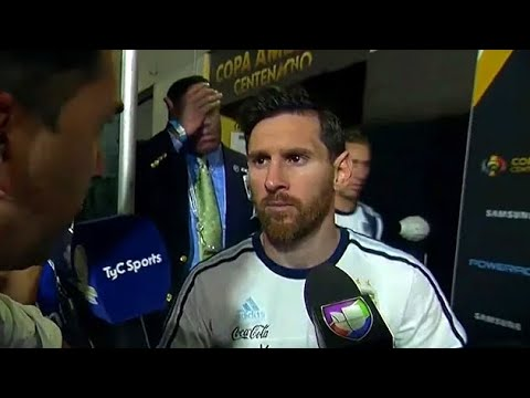 Lionel Messi Announces He Is Retiring From International Football! -- English Subtitles --