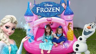 FROZEN CASTELO PULA PULA DAS PRINCESAS | Castle Disney Princess Super Trampoline | NURSEY RHYMES