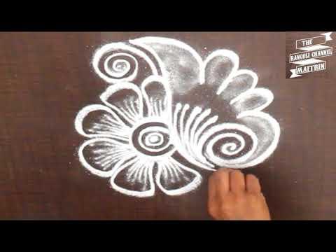 Very Simple Rangoli design for daily purpose