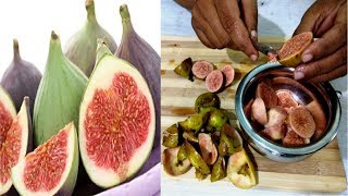 Simple Easy| | How to Peel off Anjeer(FIG)Fruit Skin and Fig Fruit Health Benefits