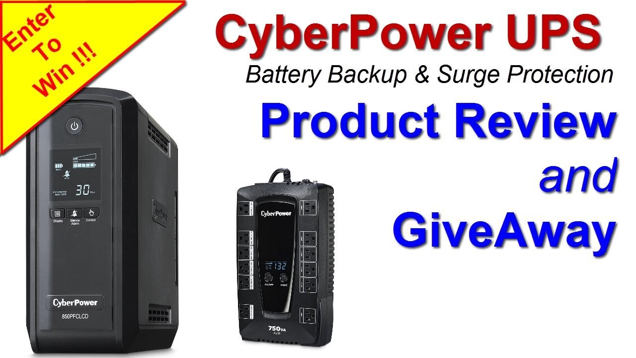CyberPower UPS Backup and Surge Protection