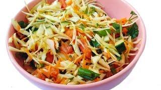 """Рецепт . Салат витаминный из капусты """"диетический """""""