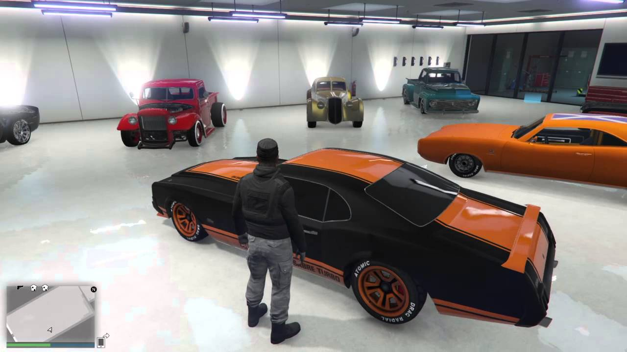 Grand Theft Auto V my garage 2 classic car collection - YouTube