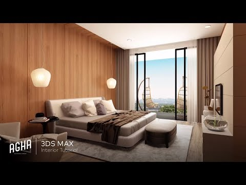 Bedroom Tutorial Interior 3Ds Max 2018 ( Photoshop )