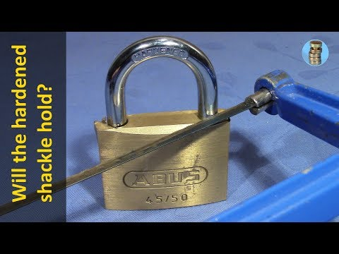 (picking 556) Can you saw through a hardened steel padlock shackle? (ABUS 45/50 with 7mm shackle)