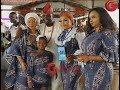 Kemi Afolabi,Her Mum &Her Daughter Storms Yomi Fabiyi's Mum's Burial Event In Matching Ankara Outfit