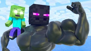 Top 5 - Best muscular story | Minecraft animation Life of Zomma & Zombo