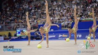 2018 Rhythmic Worlds, Sofia (BUL) - HIGHLIGHTS GROUP APPARATUS FINAL 3 BALLS/2 ROPES