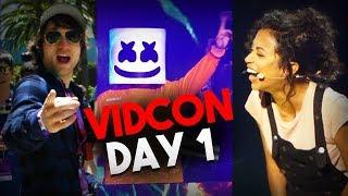 Marshmello Preforms with Liza Koshy at VidCon 2018 (ft. McJuggerNuggets, Smosh, and Dom Zeglaitis)