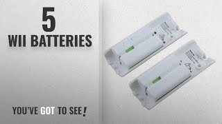 Top 10 Wii Batteries [2018]: OSAN 2x Capacity 2800mAh Rechargeable Battery for Nintendo Wii Remote