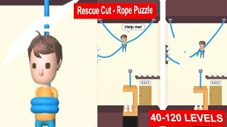 Rescue Cut - Rope Puzzle 40 - 120 Levels
