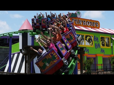 Six Flags Over Georgia DC Super Friends New For 2016 & Now Open! Family Themed Play Area Batman!