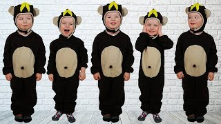 Скачать Five Little Monkeys Jumping On The Bed Baby Nursery Rhymes Song