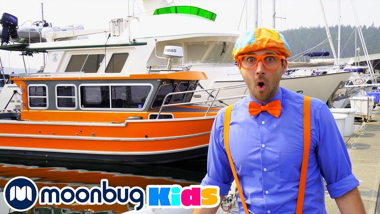 Blippi explora Botes y Barcos | Vídeos Educativos para Niños | Moonbug Kids en Español