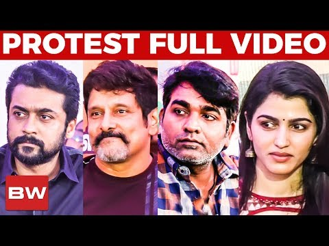 FULL VIDEO: Nadigar Sangam Protest | Stars of Tamil Cinema for Cauvery