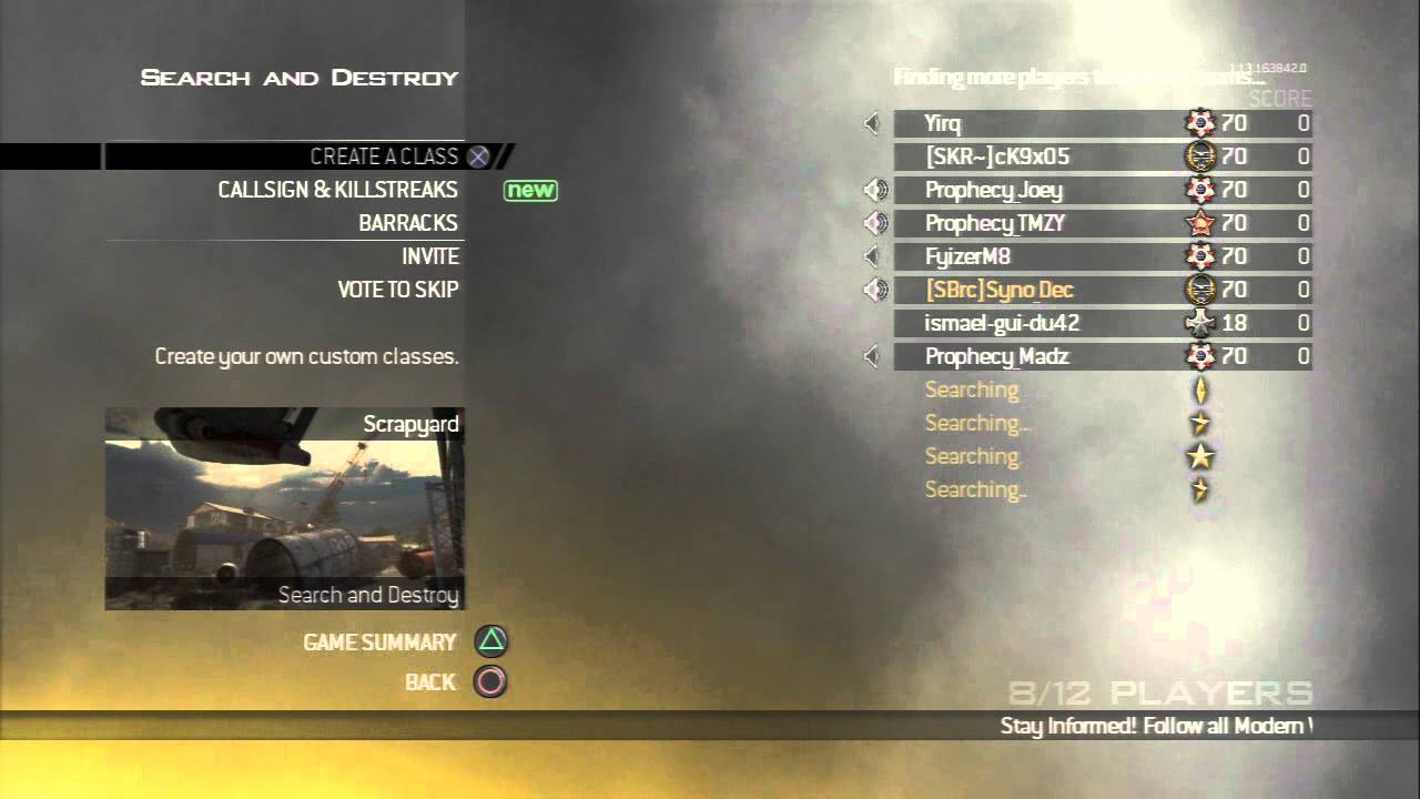 Mw2 Matchmaking-Server