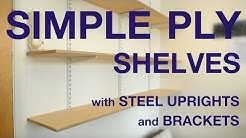 Plywood Shelves with steel uprights and brackets. #044